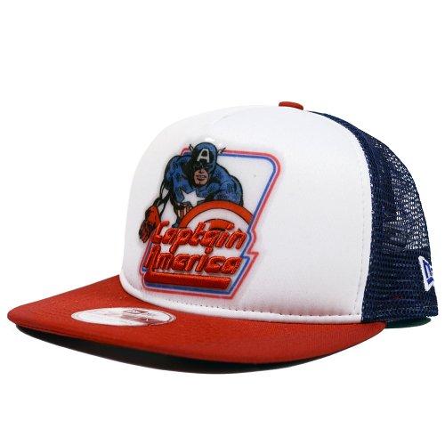 Captain America Throwback Trucker A-Frame New Era 9FIFTY Snapback Hat