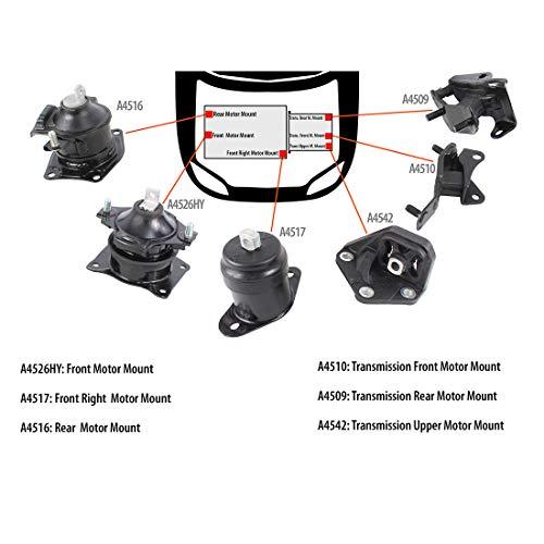 2006 honda accord motor mount kit - 6