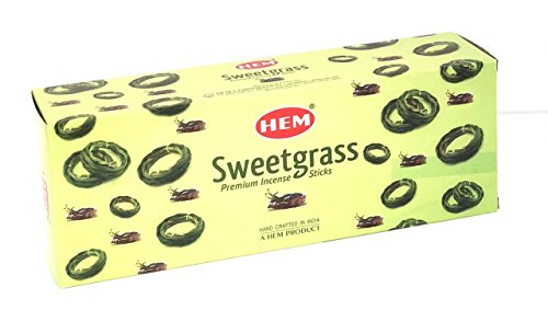 - Hem Sweetgrass Best Seller Incense Bulk 6 x 20 Stick (120 Sticks) BY 4QUARTERS&MORE