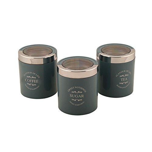 Jaypee Plus Classique 3 Set of 3 Tea, Sugar & Coffee Container Blue