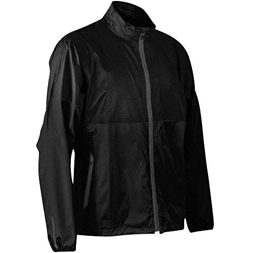 Sun Mountain Mens Cirrus Full Zip Rain Jacket Black L ()