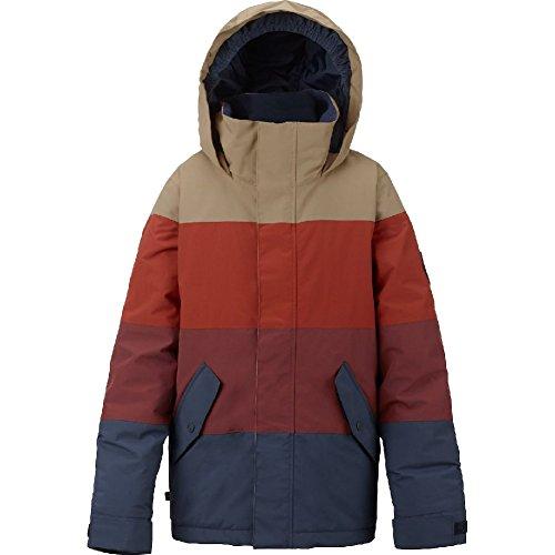 Burton Boys' Symbol Jacket, Mood Indigo/Fired Brick/Bitter, -