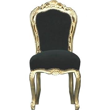 Casa Padrino Barock Esszimmer Stuhl Schwarz Gold Mobel