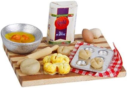 1:12 Maßstab 4 Gemischte Käse Scheiben Tumdee Puppenhaus Miniaturen Essen Ein
