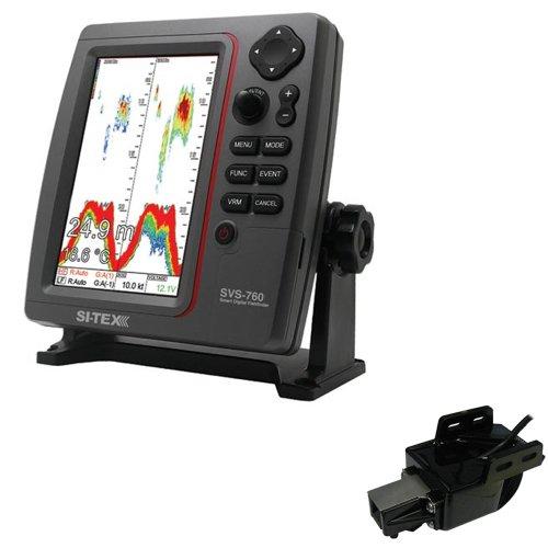 - SI-TEX SVS-760 Dual Frequency Sounder 600W Kit w/Transom Mount Triducer