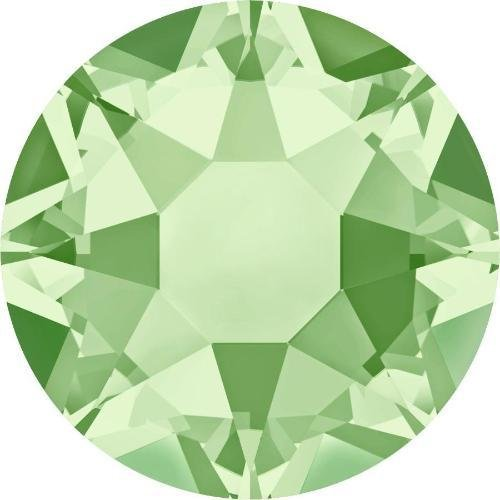 2000, 2038 & 2078 Swarovski Flatback Crystals Hotfix Chrysolite | SS6 (2.0mm) - Pack of 50 | Small & Wholesale (Chrysolite Pack)