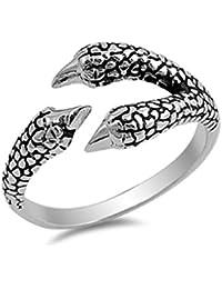 Sterling Silver Eagle Claw Designer Ring