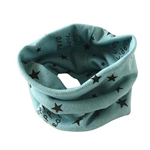 Auxma Otoño Invierno Niños Niñas collar bebé de la bufanda del Algodón Pañuelos Verde