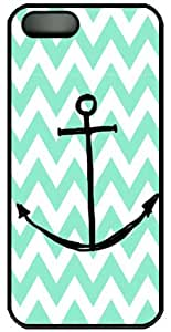 Blue chevron and anchor the pattern for iPhone 4 4s case cover