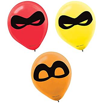 Amscan Disney's The Incredibles 2 Birthday Party Supplies 18 Latex Balloons