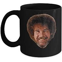 Bob Ross (Black) - Bob Ross Coffee Mug - 11-oz Bob Ross Quote Coffee Mug Cup - Funny Bob Ross Painting Quote Coffee Cup