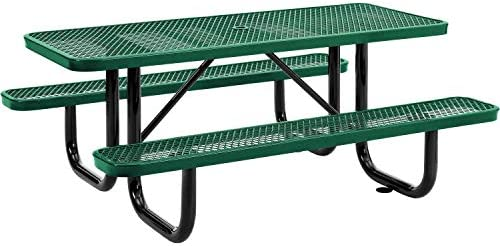 72″ Expanded Metal Rectangular Picnic Table