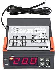 Temperaturregulator STC-1000, AC 250V Allmän Digital Termostat Temperaturkalibrering med NTC-temperatursensorsond för Jäsningsluckan Frysuppvärmning och Kylning
