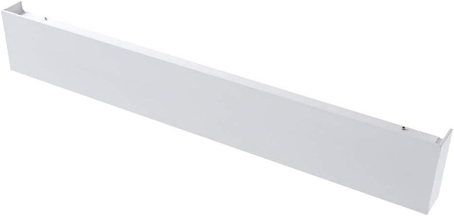 sopra Specchio Milano Eamont Applique LED 18W Rettangolare con Fascio Bidirezionale per Bagni in Bianco 3000K IP44 Impermeabile Bianco Caldo