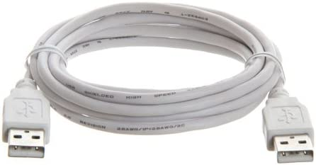 6ft USB 2.0 Type A Male to A Male Cable White