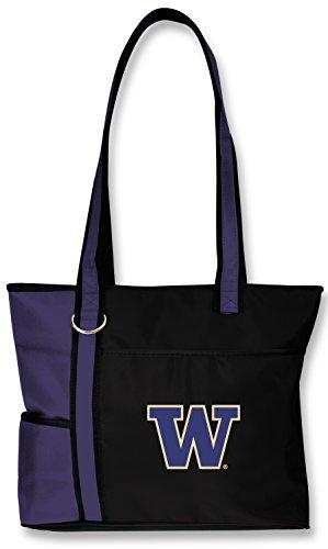 (Charm14 NCAA Washington Huskies Tote Bag with Embroidered Logo)
