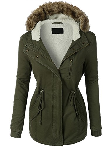 makeitmint Women's Zip Up Milita...