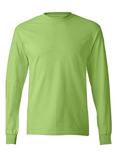 Hanes Men's ComfortSoft Long Sleeve T-Shirt, Lime, 2XL - 2004 Green T-shirt