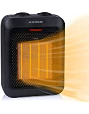 Portable Space Heater Indoor, 1500W/750W Electric Ceramic Heater with Thermostat, Heat Up 200 sq. Ft in Minutes, Safe & Quiet for Office Home Room Floor Under Desk Desktop, Black