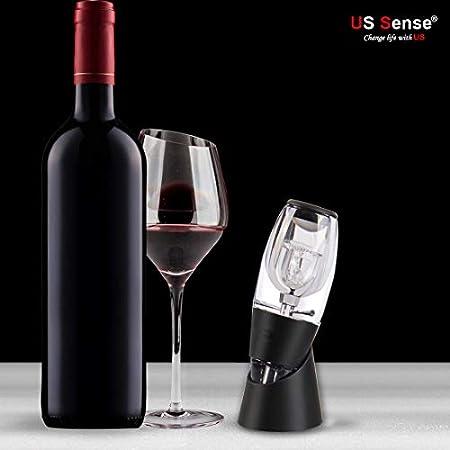 US Sense decantador de vino aireador para Navidad y vacaciones regalo (Wine Gift Set)