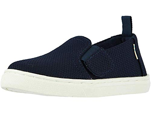 TOMS Kids Unisex Luca (Infant/Toddler/Little Kid) Navy Sport Knit 5 M US Toddler (Best Child Names 2019)