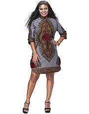 Women African Print Shirt Dashiki Traditional National Clothing