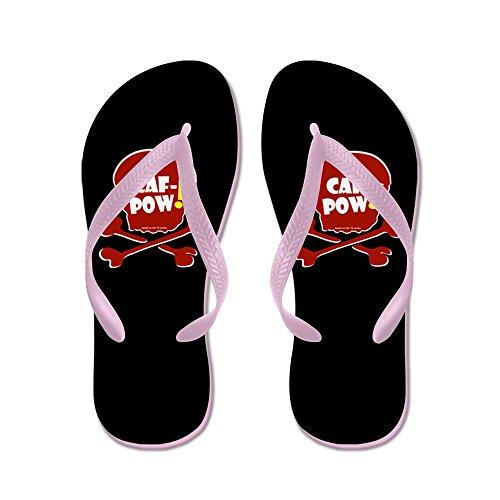 CafePress Caf-Pow! Skull - Flip Flops, Funny Thong Sandals, Beach Sandals Pink