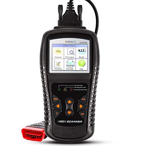 AstroAI OBD2 OS720 OBD II Auto Check Engine Code Reader Medium Car Diagnostic Tool Automotive Vehicle Scanner, Black