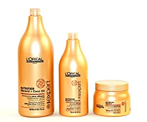 L 39 oreal nutrifier shampoo conditioner masque salon size for Loreal salon price list