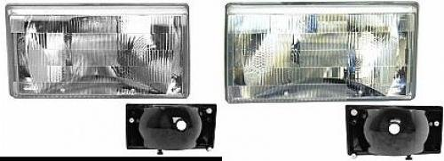 Go-Parts PAIR/SET OE Replacement for 1990-1992 Volvo 740 Front Headlights Headlamps Assemblies Front Housing/Lens / Cover - Left & Right (Driver & Passenger) for Volvo 740 ()