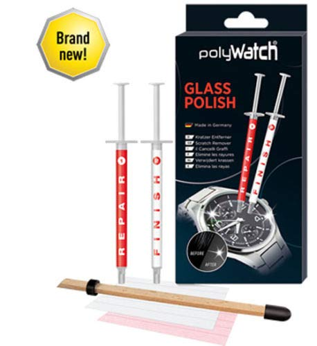 polyWatch glass polishing cream repair watches, smartphone, car, furniture, household, window (Scratch Removal Screen)