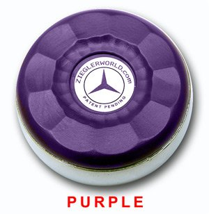 ZieglerWorld Table Large Shuffleboard Puck Weights - 4 Pucks - Purple Colors + Booklet