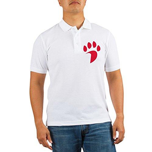 CafePress - Davidson Wildcat Pawprint Red - Golf Shirt, Pique Knit Golf Polo ()
