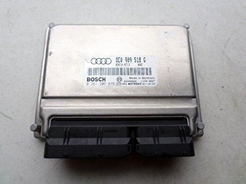 Control Unit 206 (01-02 Audi A4 1.8L Turbo AT WCVT Engine Computer Unit 8E0 909 518 G Control Module Bosch 0 261 206 879 Motronic)