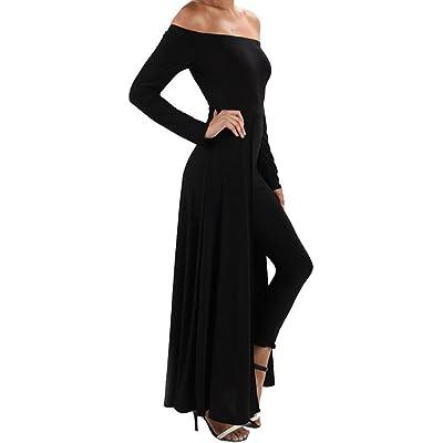Funfash Plus Size Women Gothic Black Pants Leggings Cape Dress Jumpsuit Jumper: Clothing
