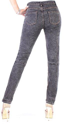 BD Stretch Jeans Mujer Pantalón High Waist hochschnitt Tubo Jeans en gris o azul gris