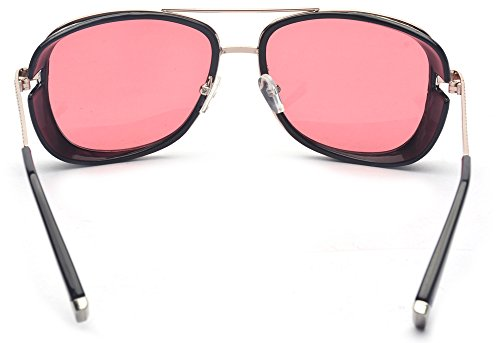 3f6433d7a30 Outray Unisex Cover Side Shield Square Sunglasses A15 Red ...