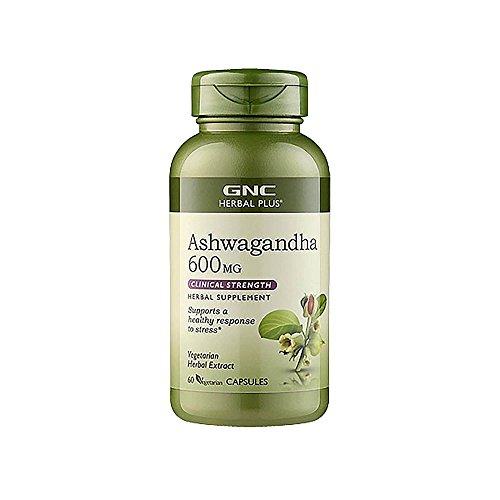 GNC Herbal Plus Ashwagandha 600mg 60 Vegetarian caps