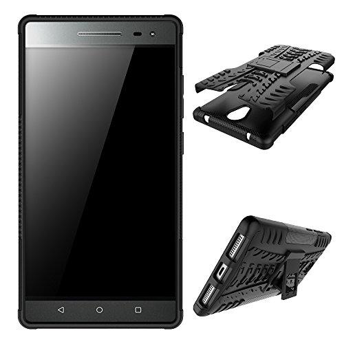 OFU®Para Lenovo Phab2 6.4 Smartphone, Híbrido caja de la armadura para el teléfono Lenovo Phab2 6.4 resistente a prueba de golpes contra la lucha de viaje accesorios-negro negro