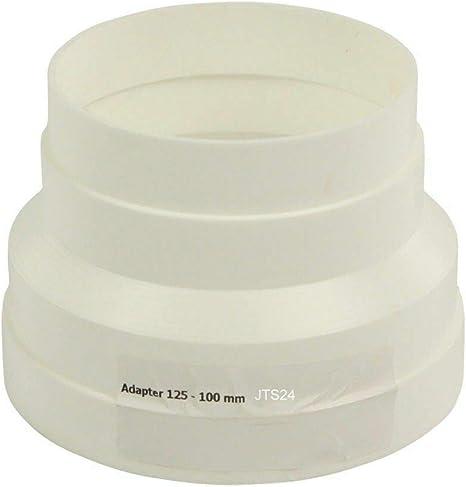 Reductor para secadora, tubo de aire de escape, adaptador de plástico 100 a 125: Amazon.es: Grandes electrodomésticos