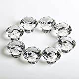YTYC 6 Pieces of Sparkling Diamond Crystal Glass knobs for Drawers, Doors and Other Handles.