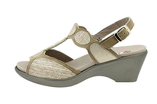 Sandales Femme Amovible Beige Daim Chaussure Semelle À Piesanto 180863 Confort dqnYwSxZ