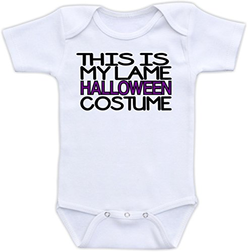 This is My Lame Halloween Costume - (12M Long Sleeve Bodysuit, Purple and Black (Lame Long Sleeve)