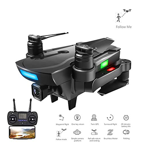 Price comparison product image Quadcopter Drone with Camera Live Video WiFi FPV Quadcopter with 120° Wide-Angle 1080P HD Camera Foldable Drone RTF - Altitude Hold,  One Key Take Off / Landing,  3D Flip
