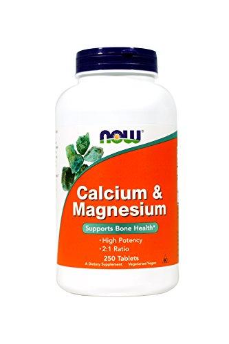 Now Foods Calcium & Magnesium - 250 Tablets (single - 250 Magnesium Calcium Tablets