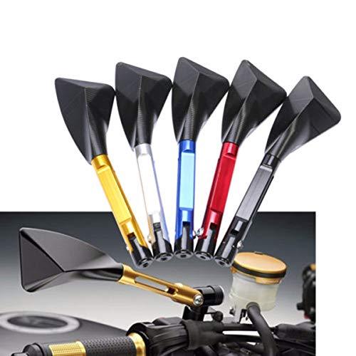 SODIAL Moto CNC en Aluminium R/étroviseur C?t/é Miroir Miroir Modification Accessoires pour Yamaha Voiture de Sport Rizoma Moto Accessoires Jaune Noir