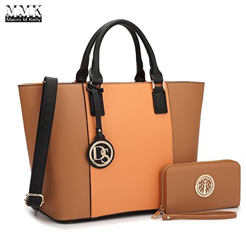 1fe6c552f1 MMK Collection All Season Trendy Designer Fashion Women Satchel Tote  handbags with Free Matching Wallet