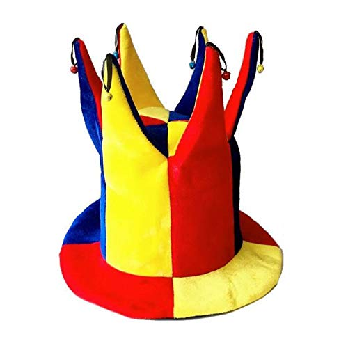 LONIY Halloween New Colorful Clown Hat Funny Circus Clown Party Hats Caps Kids Adults Cosplay Props Masquerade -