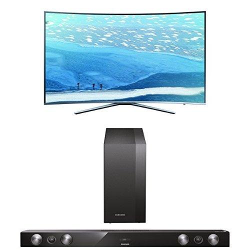 Samsung UE78KU6509UXZG Curved Fernseher + HW-H430/EN 2.1 Soundbar