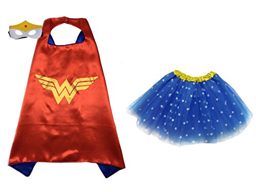 So Sydney Superhero TUTU, CAPE & MASK Adult Teen Plus Complete Halloween Costume (L (Adult Size), Wonder (Adult Costumes With Tutus)